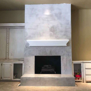 concrete fireplace piedmont ok